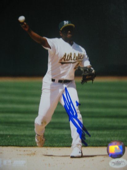 Miguel Tejada Autographed 8x10 Photo JSA Authenticated