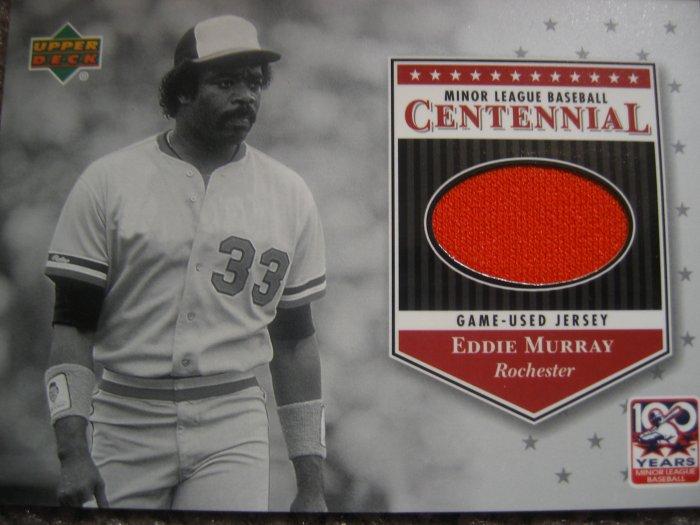 2001 Upper Deck Centennial Eddie Murray Game Used Jersey Card