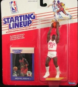1988 Michael Jordan Chicago Bulls Starting Lineup