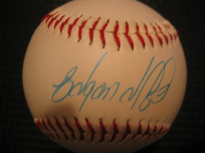 Edguardo Alfonso Autographed Official League Baseball