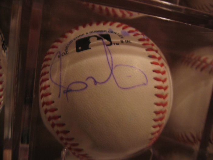 Andy Marte Autographed non-official Baseball