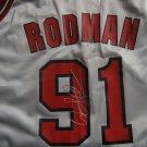 Dennis Rodman Autographed Replica Bulls Home Jersey