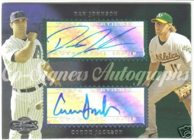 2006 Topps Cosigners Dan Johnson & Conor Jackson Autographed Card