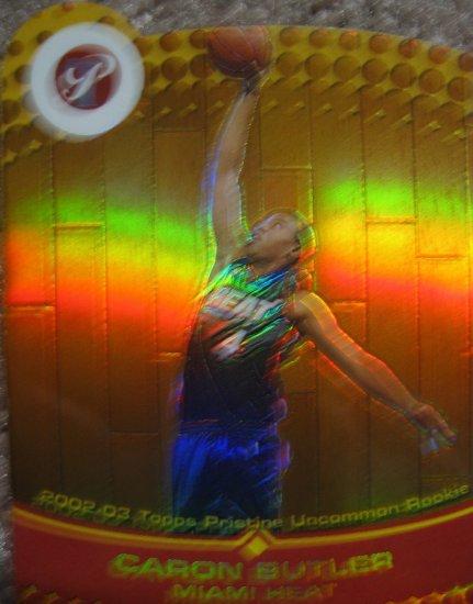 02-03 Topps Pristine Caron Butler Uncommon Gold Die-cut Refractor