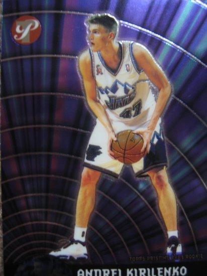 2002 Topps Pristine Andrei Kirilenko Rare rookie Card #107