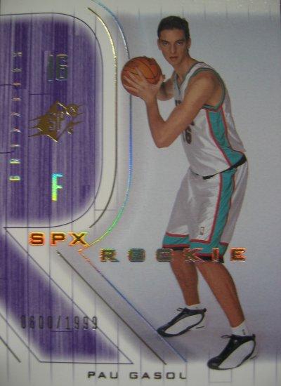 2001 SPX Pau Gasol Rookie Card #140