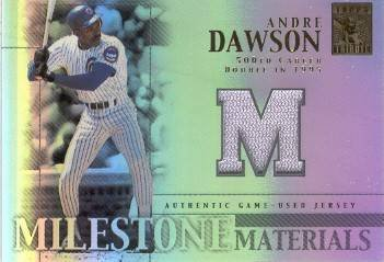 2002 Topps Tribute Milestone Materials Andre Dawson Game Used Jersey Card