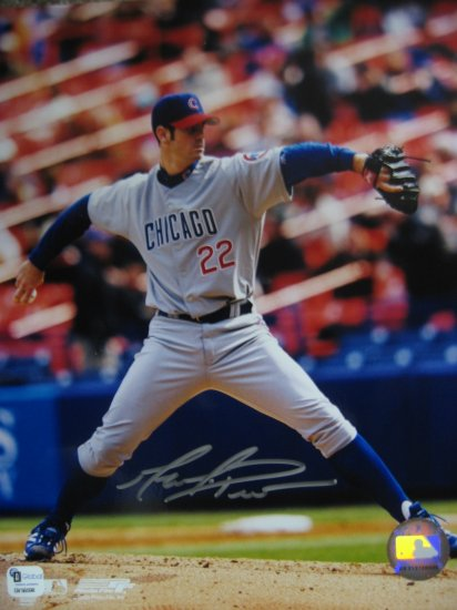 Mark Prior Autographed 8x10 Global Authenticated (GAI) Pose #2