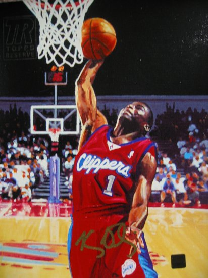 Keyon Dooling Autographed 8x 10 Canvas Painting (Topps)