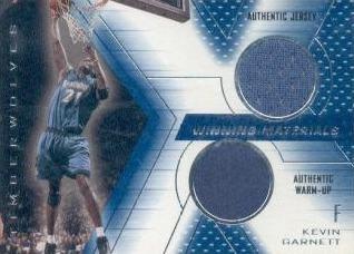 01-02 Upper Deck SPX Kevin Garnett Winning Materials Dual Game Jersey/Warm Up Jersey #KG