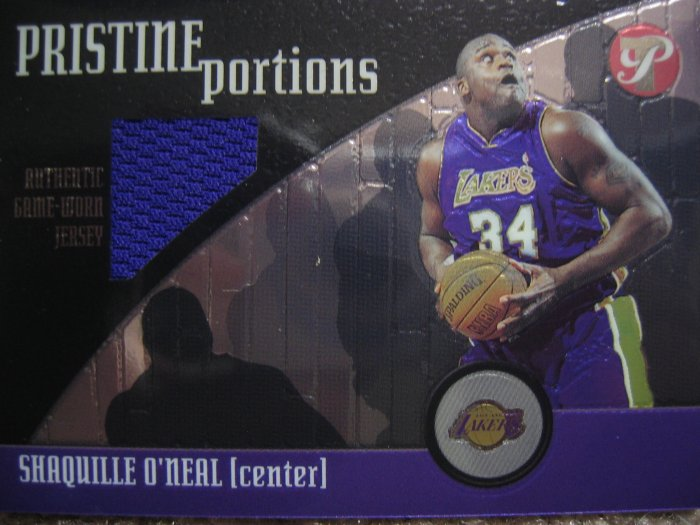 01-02 Topps Pristine Portions Shaquille O'neal Game Used Jersey Card
