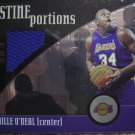 01-02 Topps Pristine Portions Shaquille O&#39;neal Game Used Jersey Card