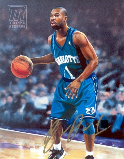 Topps Reserve Baron Davis Autographed 8x10 Canvas (Topps)