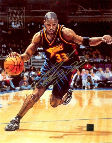 Topps Reserve Antawn Jamison Autographed 8x10 Canvas (Topps)