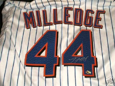 LASTINGS MILLEDGE Signed NY Mets Jersey  (Locker Room Memorabilia)