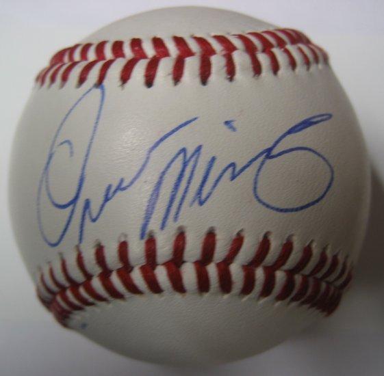 Omar Minaya Signed Trump Signature Series Baseball