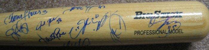 2008 Washington Nationals Team Signed Bat