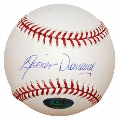 DIONER NAVARRO SIGNED MAJOR LEAGUE BASEBALL RAYS (ASI)