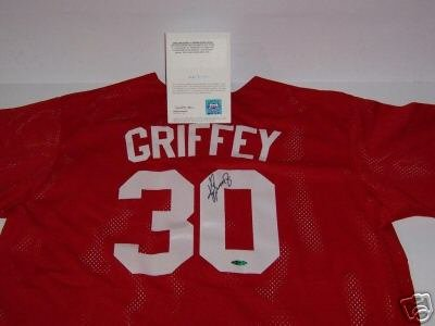 Upper Deck Authenticated Ken Griffey Jr. Signed Authentic Batting Practice Jersey