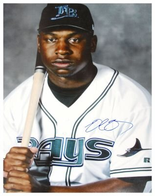 DELMON YOUNG SIGNED 16X20 PHOTO TWINS (ASI)