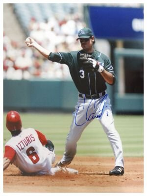 JORGE CANTU SIGNED 16X20 PHOTO MARLINS (ASI)