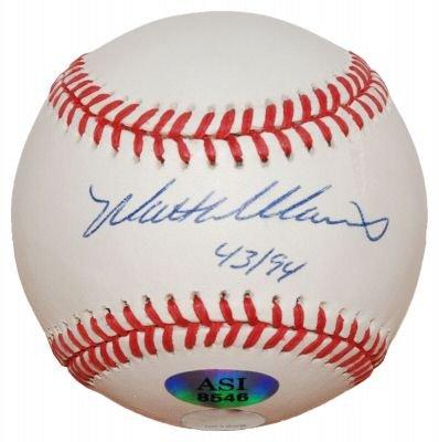 Matt Williams Signed OL Baseball (ASI)