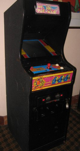 Ms. Pac Man Caberet Cabinet Arcade Game