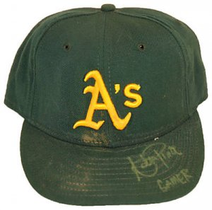 ADAM PIATT SIGNED GAME USED HAT (ASI)