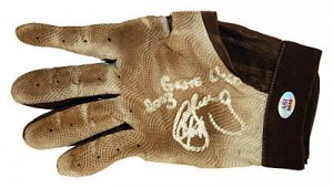 CHRIS SNELLING SIGNED GAME USED BATTING GLOVE (ASI)