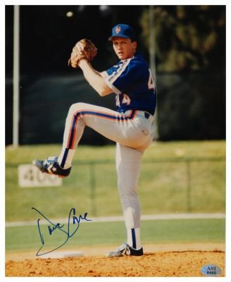 DAVID CONE SIGNED 8X10 PHOTO METS (ASI)