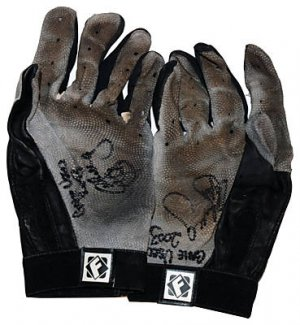CHRIS SNELLING SIGNED GAME USED BATTING GLOVES (ASI)