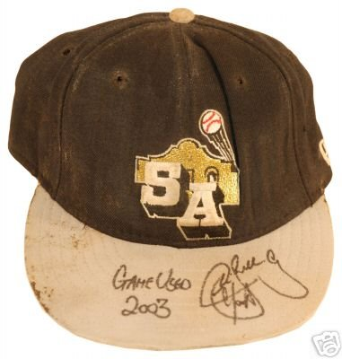CHRIS SNELLING SIGNED GAME USED HAT (ASI)
