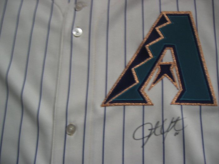 Justin Upton Signed Authentic Arizona Diamondbacks Home Jersey (GAI)