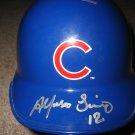 Alfonso Soriano Signed Cubs Mini Helmet (GAI)