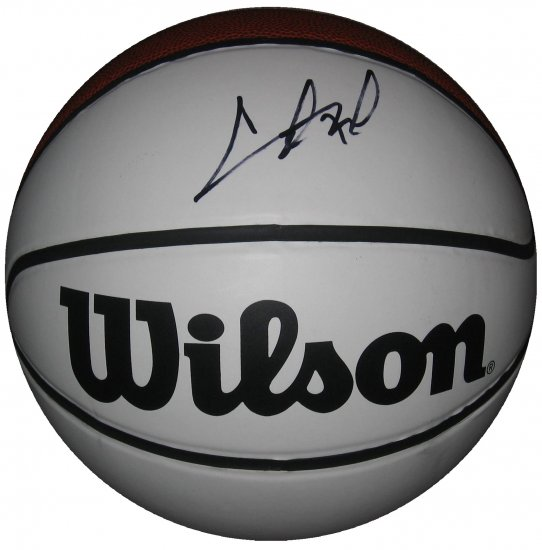 Chris Bosh SIgned Wilson's Full Size White Panel Basketball (GAI)
