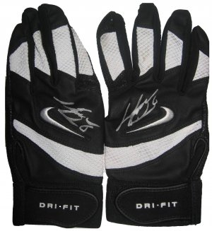 Jose Guillen Signed Pair of Game Used Batting Gloves (ASI)