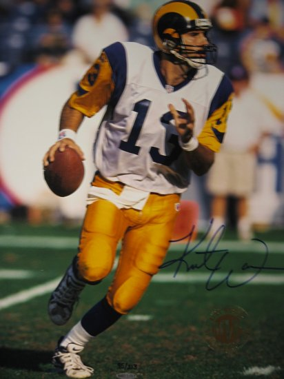 Upper Deck Authenticated Kurt Warner 16x20 limited 95/213