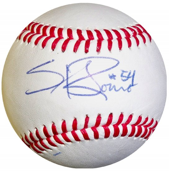Sergio Romo Signed Trump Signature Series Baseball
