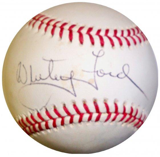 Whitey Ford Signed OMLB Baseball (JSA)