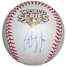 C.C. Sabathia Signed 2009 World Series Baseball (MLB & Sabathia Holo)