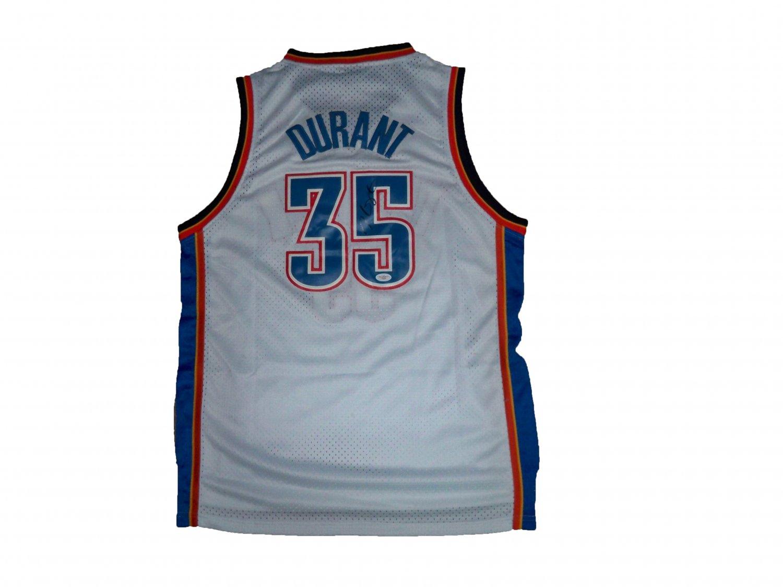 Kevin Durant Signed Thunder Jersey (JSA)