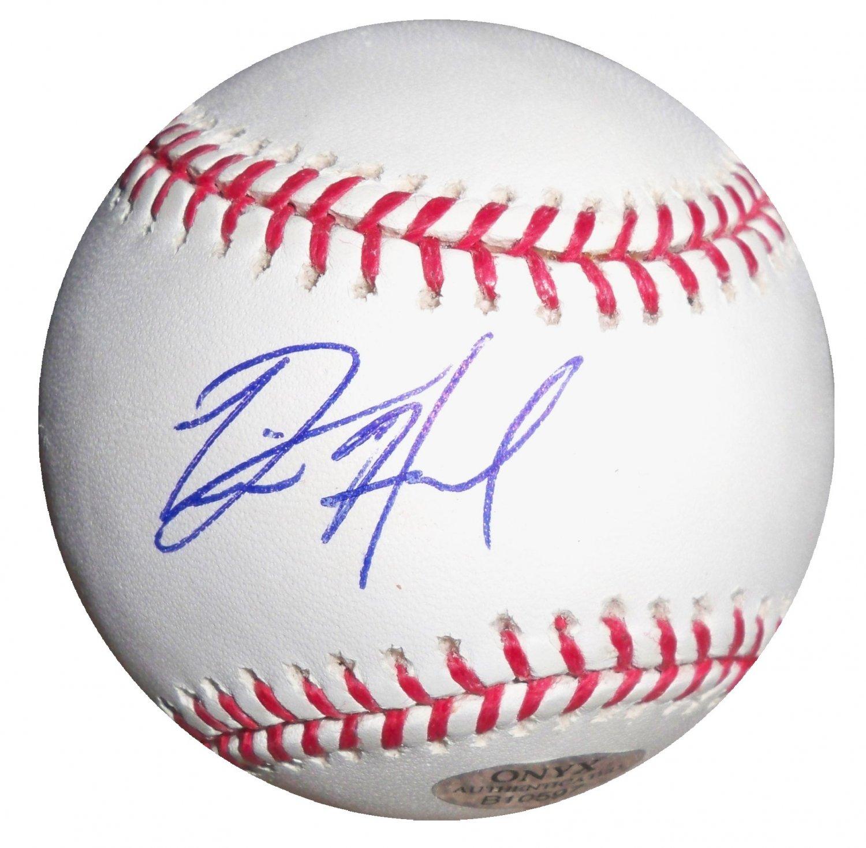 Destin Hood Signed Official Major League Baseball (ONYX)