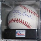 Whitey Ford Signed Official Major League Baseball Graded Mint 9 (PSA/DNA))
