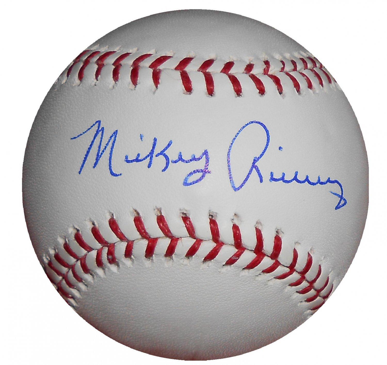 Mickey Rivers Signed Trump Signature Series Baseball (MLB)