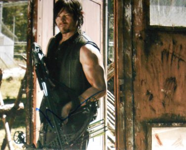 Norman Reedus Signed Daryl Dixon Walking Dead 8x10 Photo