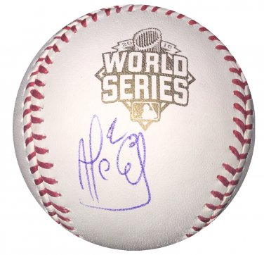 Alcides EscobarSigned 2015 Official World Series Baseball