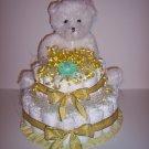 2 Tier Bear Baby Shower Diaper Cake Centerpiece UNISEX