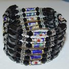 Black Crystal Magnetic Cloisonnette Hemetites 36'' Necklace/Bracelet