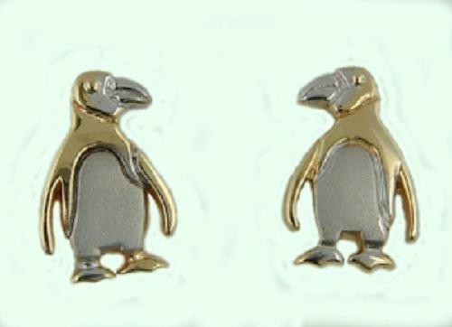 14 kt Gold Penguin Earrings