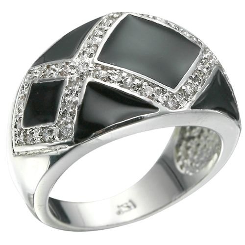 Rhodium Plated Brilliant CZ Ring GORGEOUS